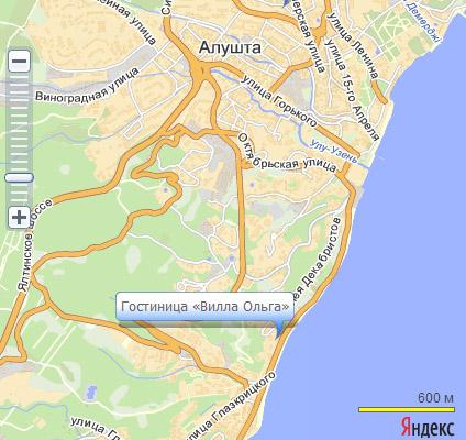 ...д. вокзала или аэропорта г. Симферополя до автовокзала г. Алушты (время пути 1 час 30 минут).